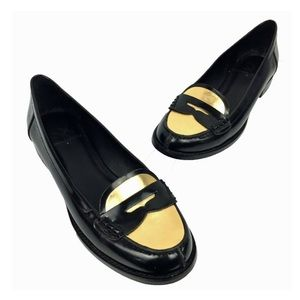 DONALD PLINER | gold toe leather loafers